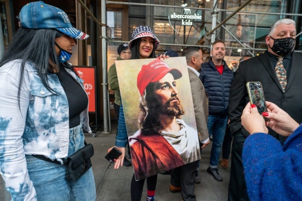 Jesus in a MAGA hat copy